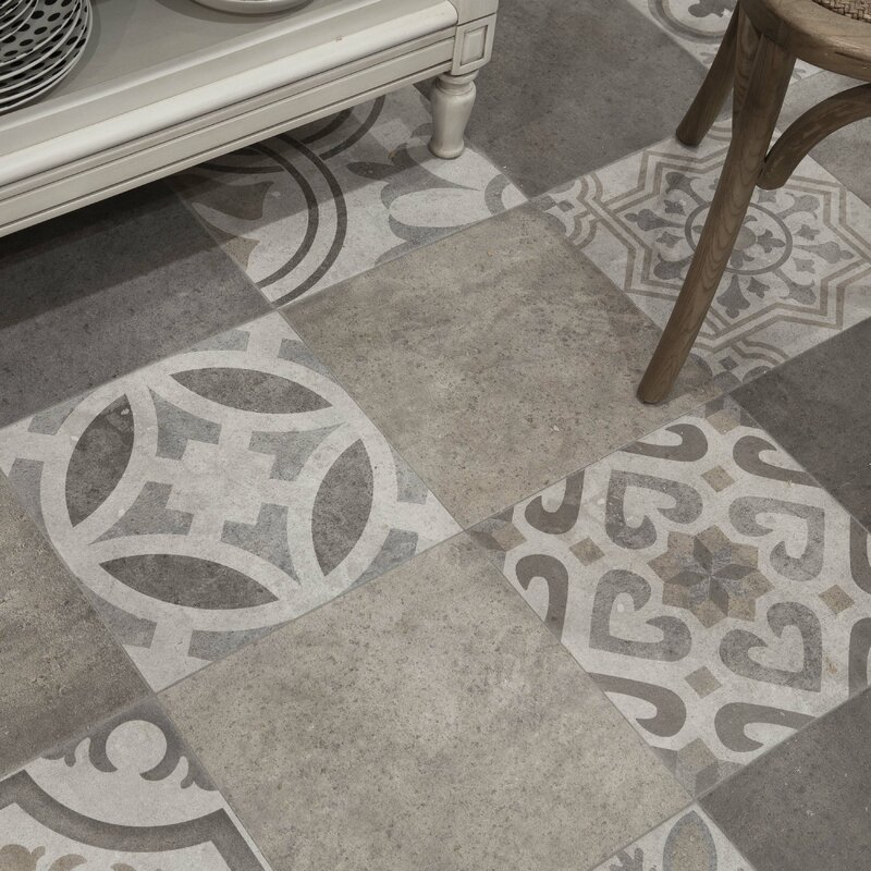 Ardisana 13 13 Quot X 13 13 Quot Ceramic Field Tile In Gray Brown