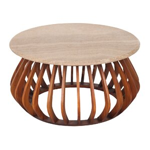 Alexandrine Round Coffee Table by Corrigan Studio