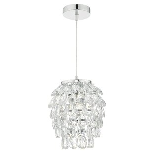 Easy fit crystal light shade wayfair primrose 18cm glass novelty pendant shade mozeypictures Gallery