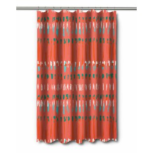 Modern Tribal Coral Shower Curtain