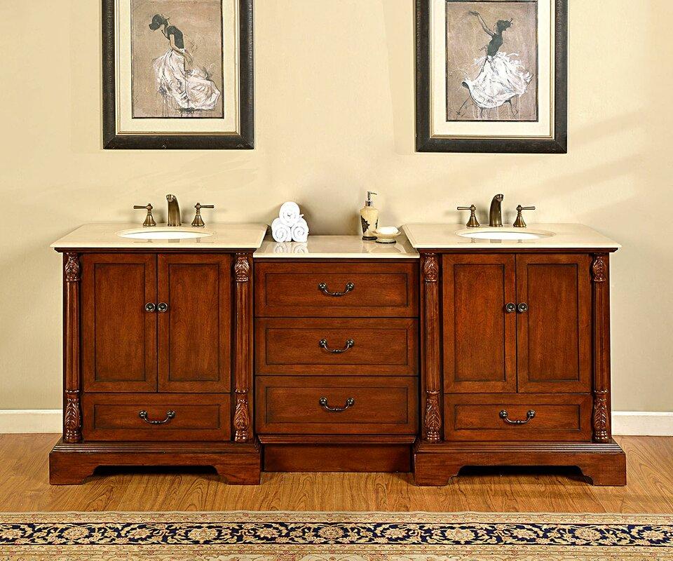 Silkroad Exclusive Casshern Double Bathroom Vanity Set