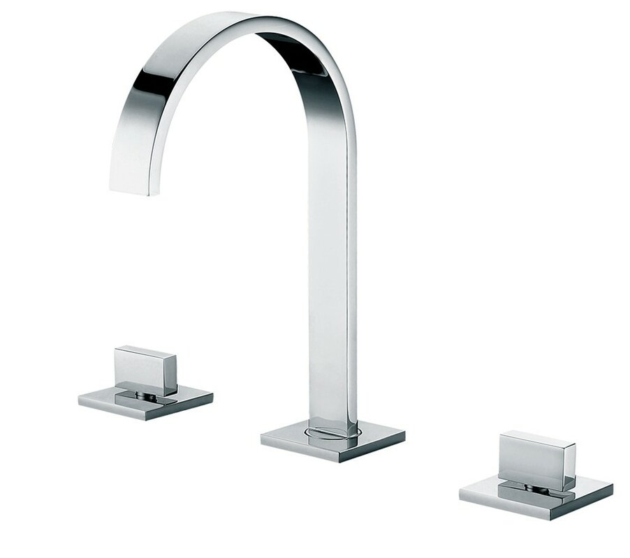 Superb Gooseneck Widespread Deck Mounted Double Handle Bathroom Faucet
