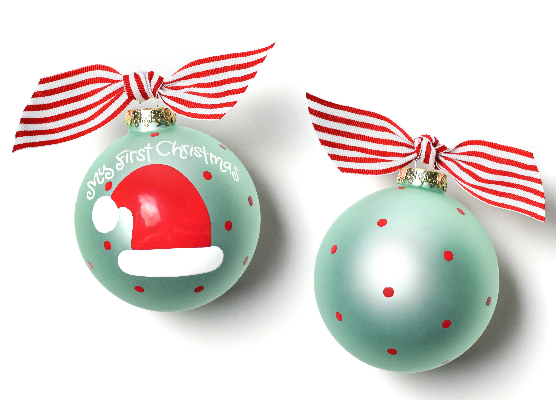 coton colors my first christmas hat glass ball ornament wayfair
