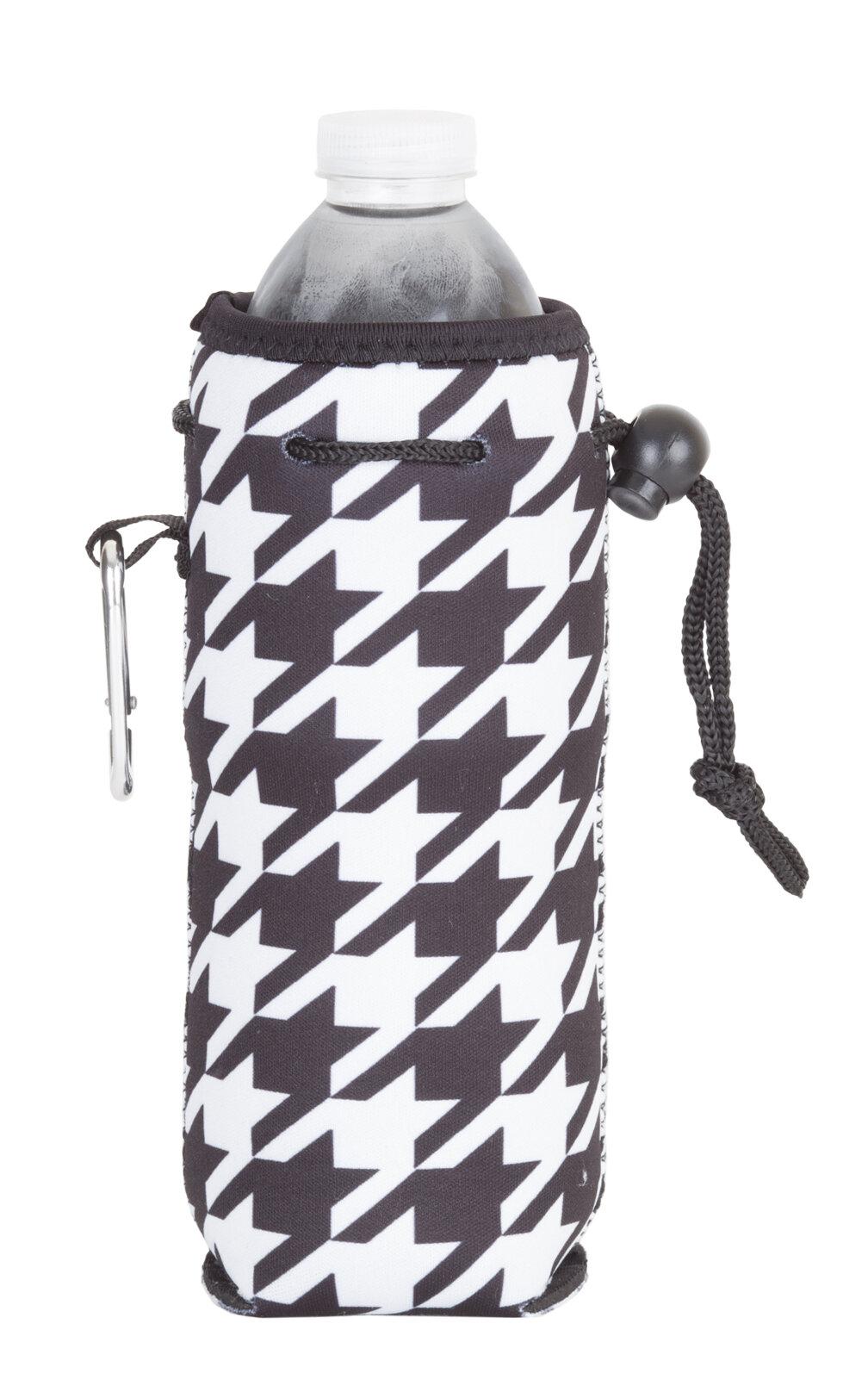 ZEEI Neoprene Houndstooth Bottle Cooler with Carabiner & Reviews ...