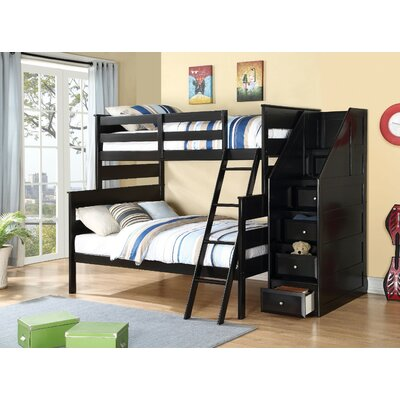 Carennac Wooden Storage Twin over Full Bunk Bed Harriet Bee