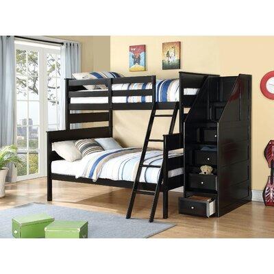 Carennac Wooden Storage Twin over Full Bunk Bed Harriet Bee