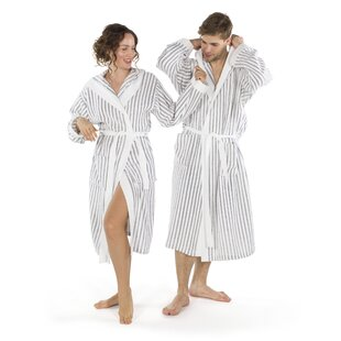 9f9be90bce Brett Terry Stripe 100% Turkish Cotton Terry Cloth Bathrobe