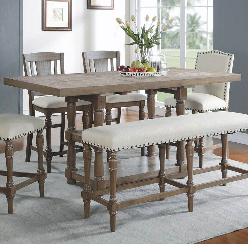Laurel Foundry Modern Farmhouse Fortunat Counter Height Extendable