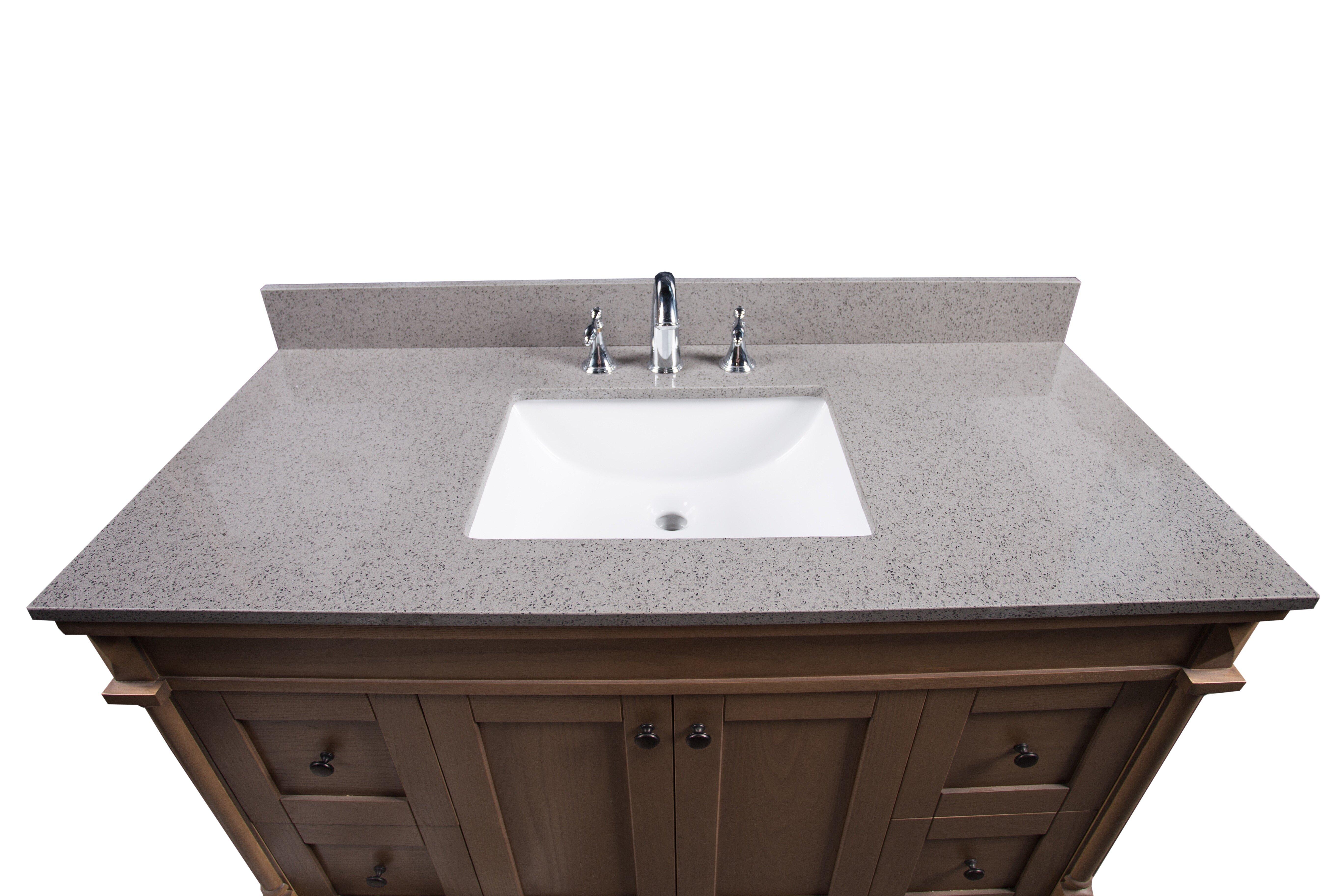 Pleasant London 49 Single Bathroom Vanity Top Beutiful Home Inspiration Semekurdistantinfo