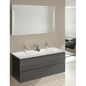 double basin vanity units for bathroom. stef 121cm wall mounted double basin vanity unit with mirror and storage cabinet units for bathroom