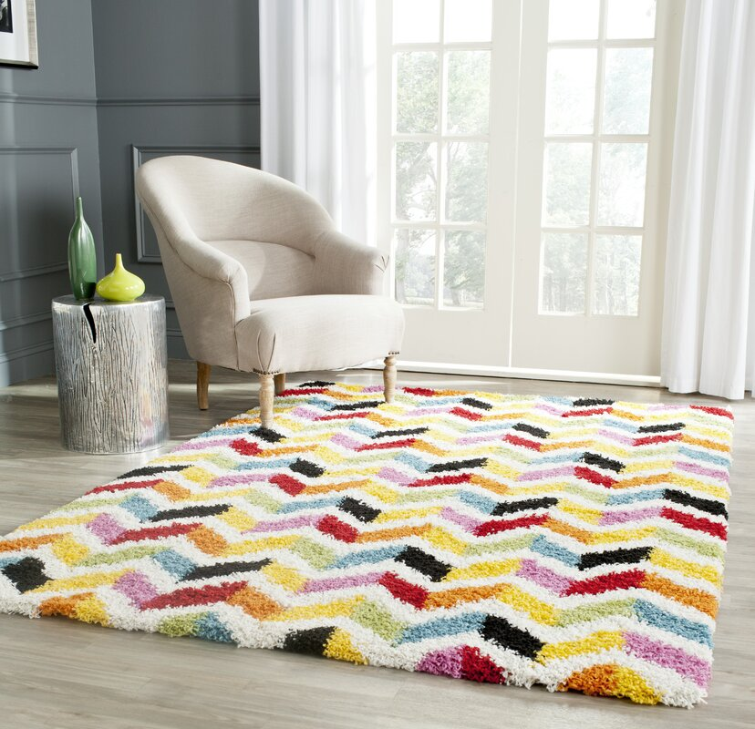 Kids Yellow Red Area Rug