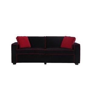 Varick Gallery Arjun Modern Velvet Fabric Sofa
