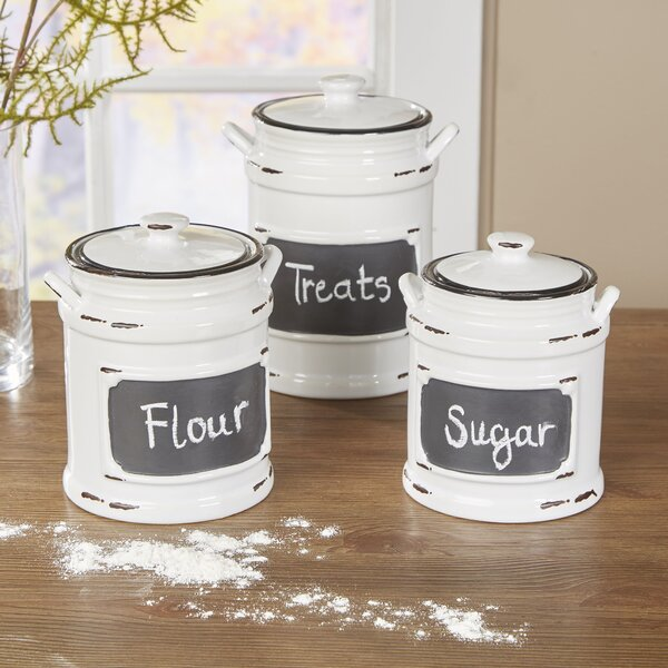 Birch Lane Dupree 3 Piece Kitchen Canister Set Amp Reviews