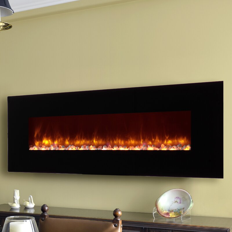 Dynasty LED Wall Mount Electric Fireplace Reviews Wayfair