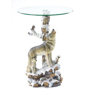 Howling Wolf End Table by Zingz & Thingz