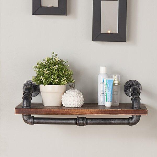 Floating Wall Shelves trent austin design industrial walnut wood floating wall shelf