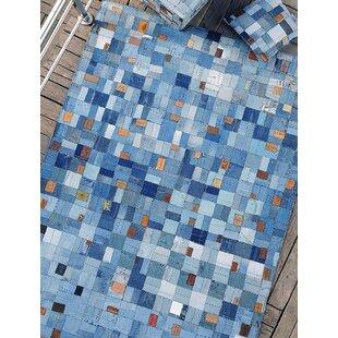 Venres Handwoven Blue Rug by Castleton Home