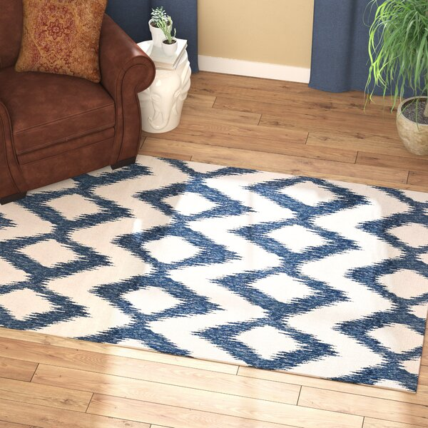 Well-known Jayceon Blue/Cream Ikat Area Rug | Joss & Main FH52