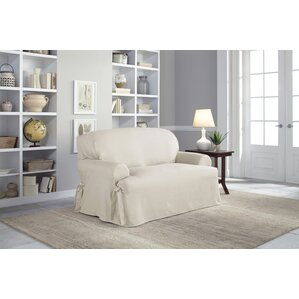 Serta Cotton Duck T-Cushion Loveseat Slipcover