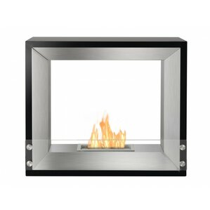 Tempo Freestanding Ventless Ethanol Fireplac..