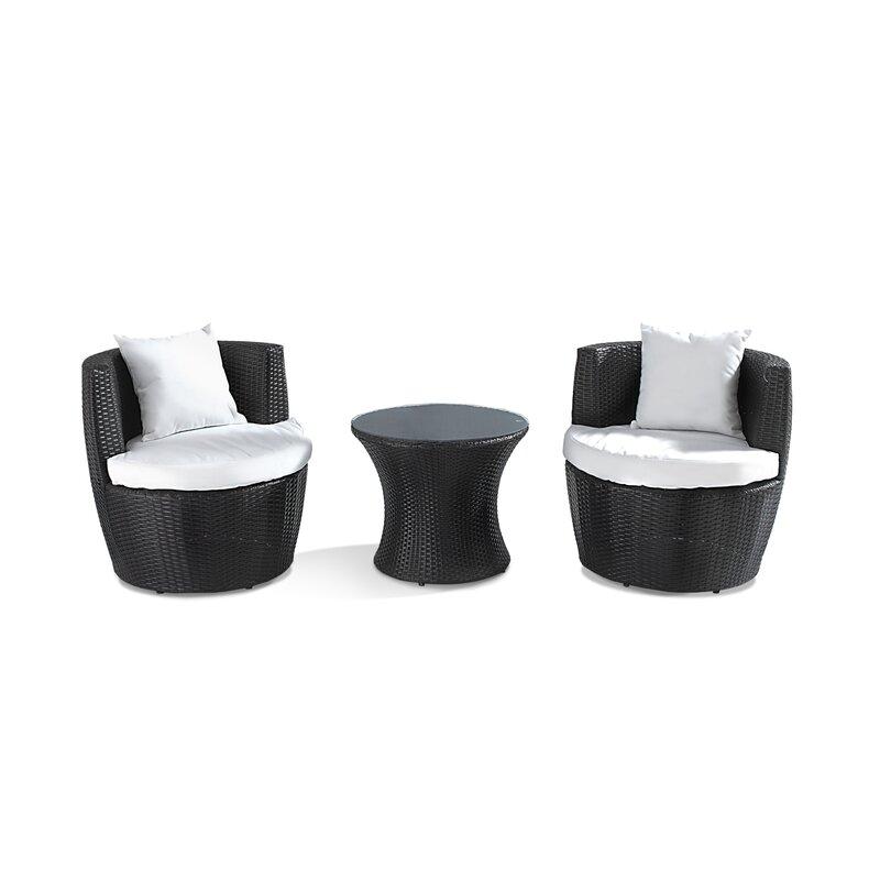 Home & Haus 2-Sitzer Loungemöbel-Set Abrigo & Bewertungen | Wayfair.de