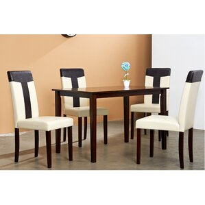 Tiffany 5 Piece Dining Set by Warehouse of Tiffany