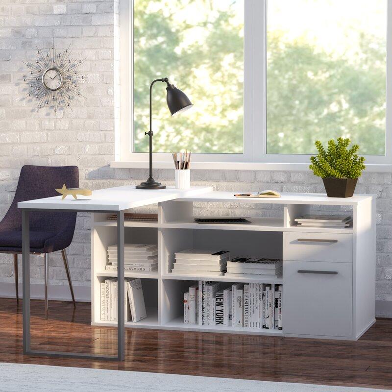 Alves L Shaped Executive Desk Amp Reviews Allmodern