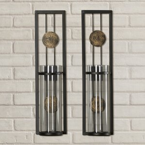 wall sconce candle holder set of 2