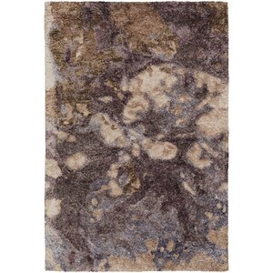 Scylla Hand-Tufted Dark Purple Area Rug