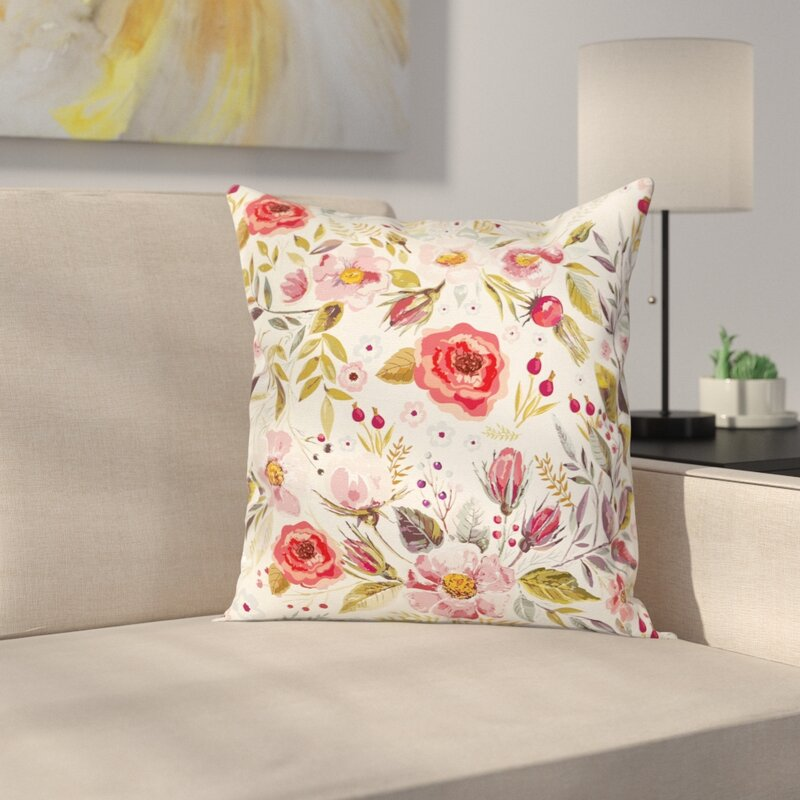 East Urban Home Modern Floral 40 Square Pillow Cover With Zipper Classy 22 Square Pillow Covers