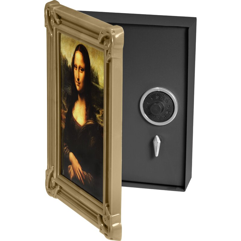 Wall Mount Picture Frame Diversion Safe With Combination Lock
