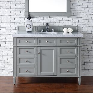 Backsplash Marble Top Vanity Wayfair - 48 gray bathroom vanity