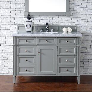 Backsplash Marble Top Vanity Wayfair - 48 gray bathroom vanity