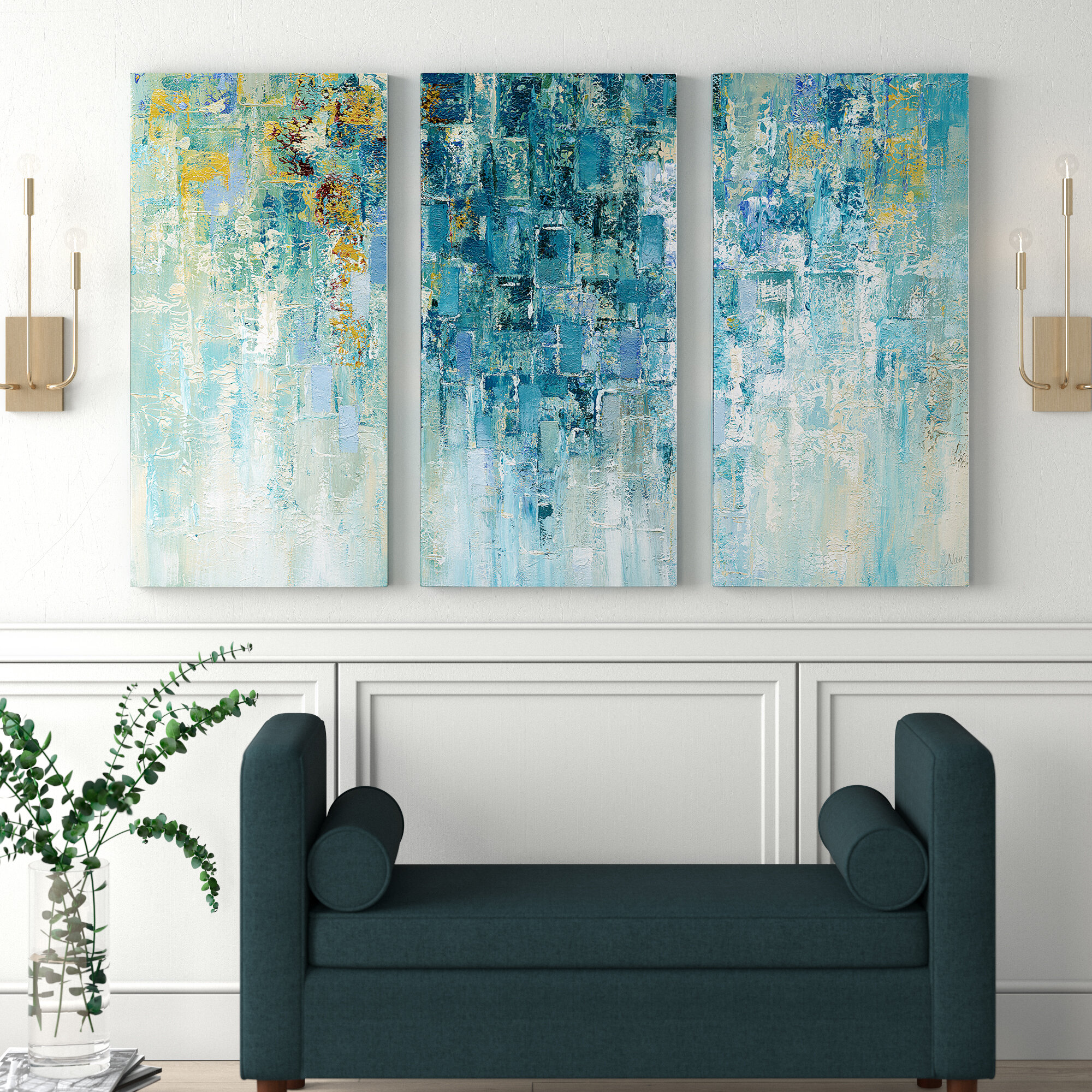 I Love The Rain Acrylic Painting Print Multi Piece Image On Gallery Wrapped Canvas