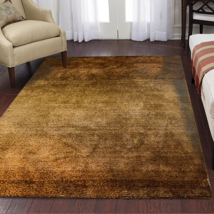 Jack Machine Woven Polyester Brown Area Rug