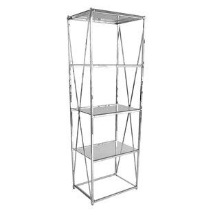 chrome glass shelf unit wayfair co uk rh wayfair co uk Bathroom Metal Shelving Units Chrome Bathroom Storage