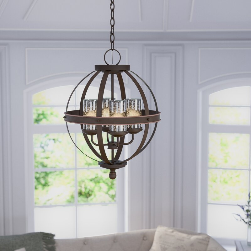 Birch Lane™ Tuscany 4-Light Globe Chandelier & Reviews | Birch Lane