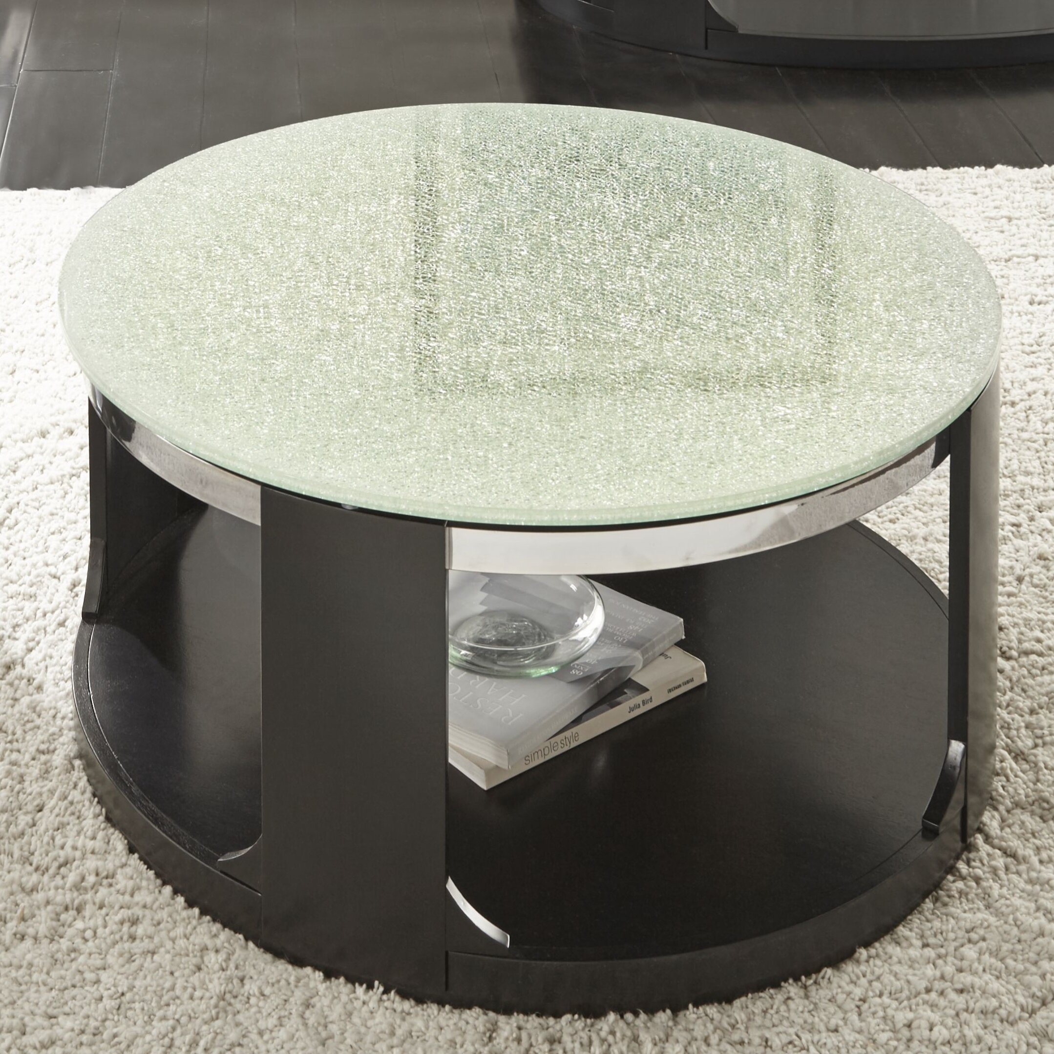 Merveilleux Latitude Run Charly Cracked Glass Coffee Table U0026 Reviews | Wayfair