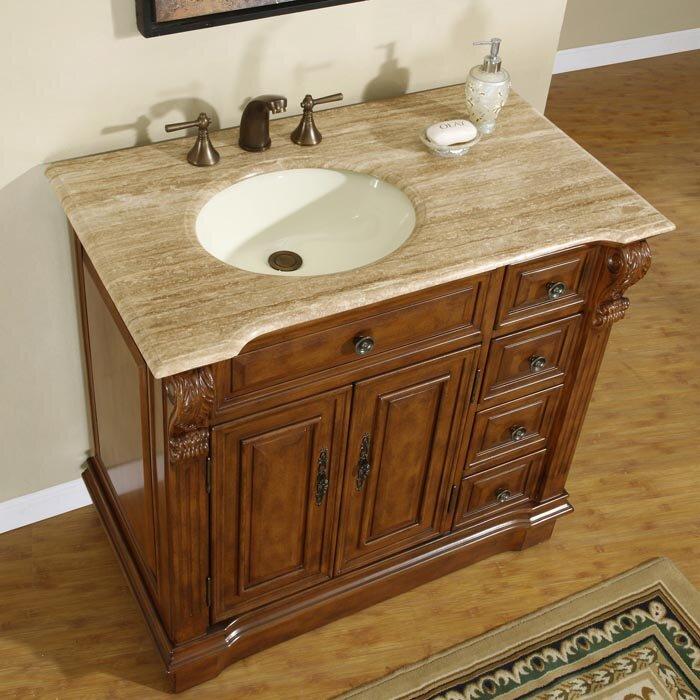 """Bathroom Vanities Charlotte Nc silkroad exclusive charlotte 38"""" single bathroom vanity set"""