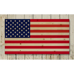 American Flag Pallet Photographic Print On Wood