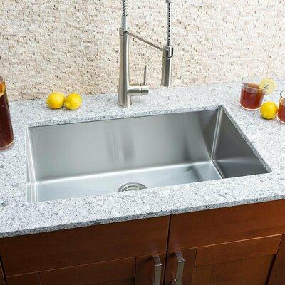 """Undermount Kitchen Single Sink hahn chef series 30"""" x 18"""" single bowl undermount kitchen sink"""