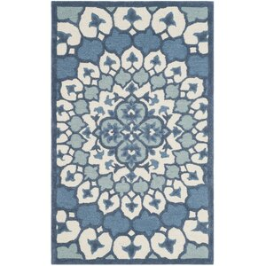Blokzijl Hand-Tufted Ivory/Blue Area Rug