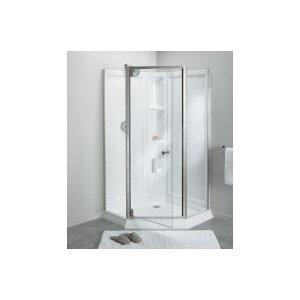 Solitaireu00ae Frameless Neo-Angle Corner Shower Kit