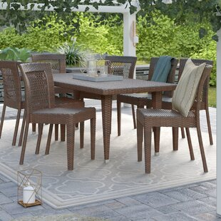 9 piece outdoor dining set square diaz piece dining set eight person patio sets youll love wayfair