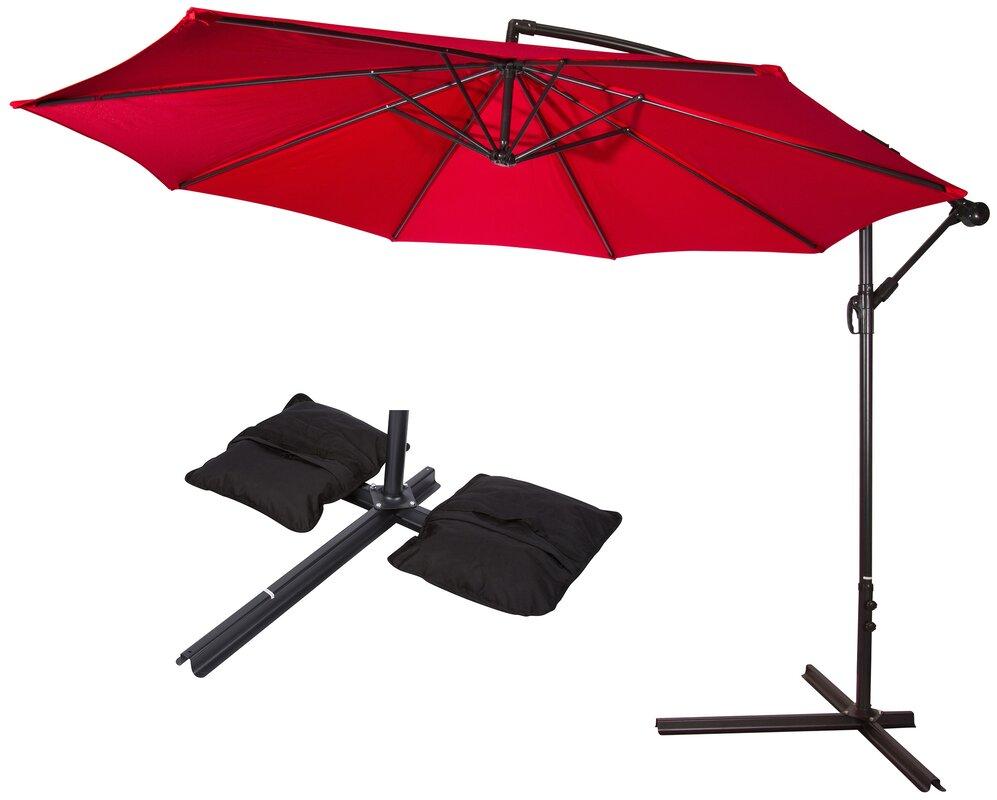 Ft Offset Cantilever Umbrella Outdoor Patio Umbrella W
