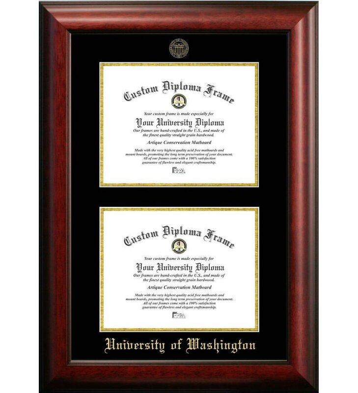 Diploma Frame Deals University of Washington Double Degree Picture ...