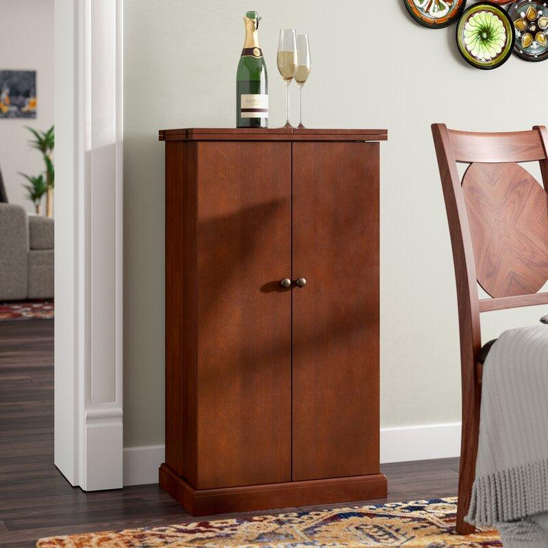 Red Barrel Studio Zain Bar Cabinet With Wine Storage