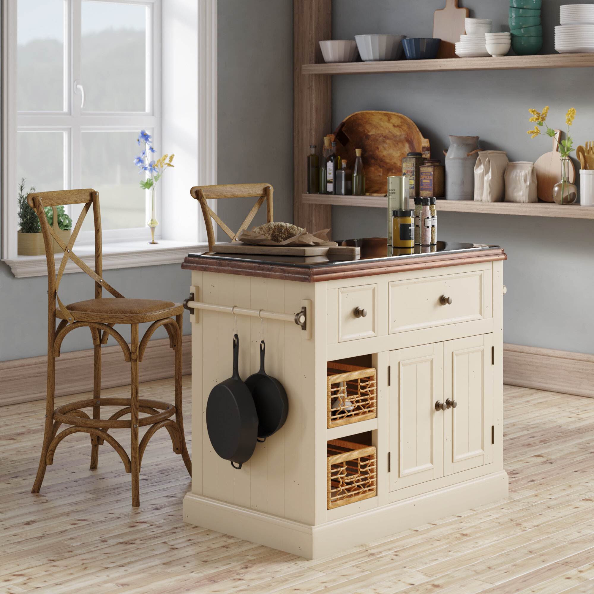 27a5802615a Laurel Foundry Modern Farmhouse Zula Kitchen Island with Granite Top    Reviews