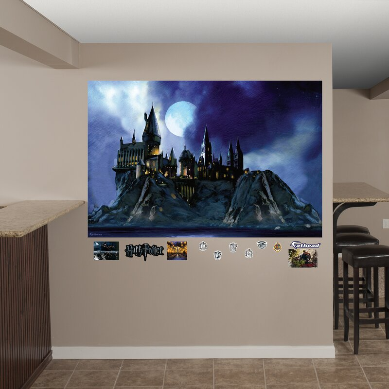 Harry Potter Hogwarts Castle Peel and Stick Wall Decal & Fathead Harry Potter Hogwarts Castle Peel and Stick Wall Decal | Wayfair