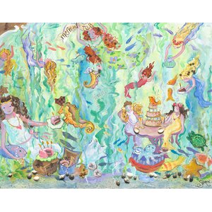 Mermaid Tea Party Canvas Art